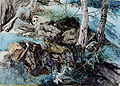 Rocks and Ferns in a Wood at Crossmount.jpg