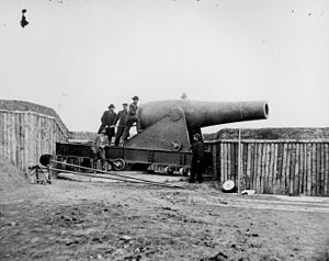 Thomas Jackson Rodman - An example of a 15-inch Rodman gun during the American Civil War. This one was part of Battery Rodgers protecting Washington, D.C.