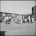 Rohwer Relocation Center, McGehee, Arkansas. Evacuee High School students are here shown changing c . . . - NARA - 538894.tif