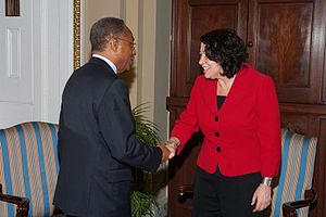 Roland Burris - Senator Burris meeting with Supreme Court nominee Sonia Sotomayor in June 2009