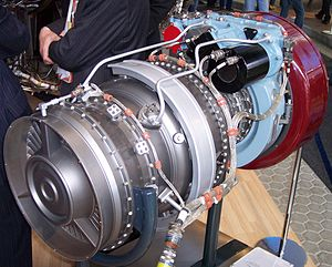 Rolls-Royce Turbomeca Limited - An RTM322 on display