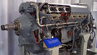 Rolls-Royce Griffon - Preserved Rolls-Royce Griffon with cutaway sections.
