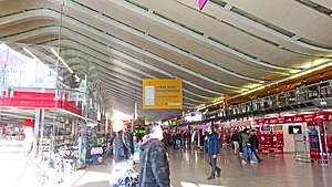 Roma Termini railway station - Interior of the station building   (Feb 2017)