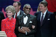 Ronald Reagan, Nancy Reagan, and Ray Charles.jpg
