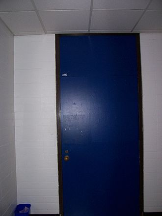 A113 - The door of Room A113 c. 2005