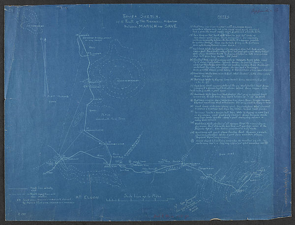 600px rough sketch of the route of the turkwell mission. between. marich and save. %28womat afr bea 218 3 1%29