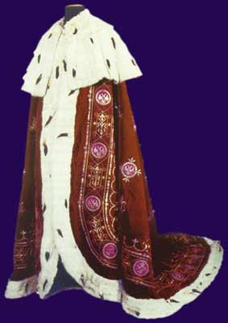 Regalia of Serbia - Serbian Royal mantle