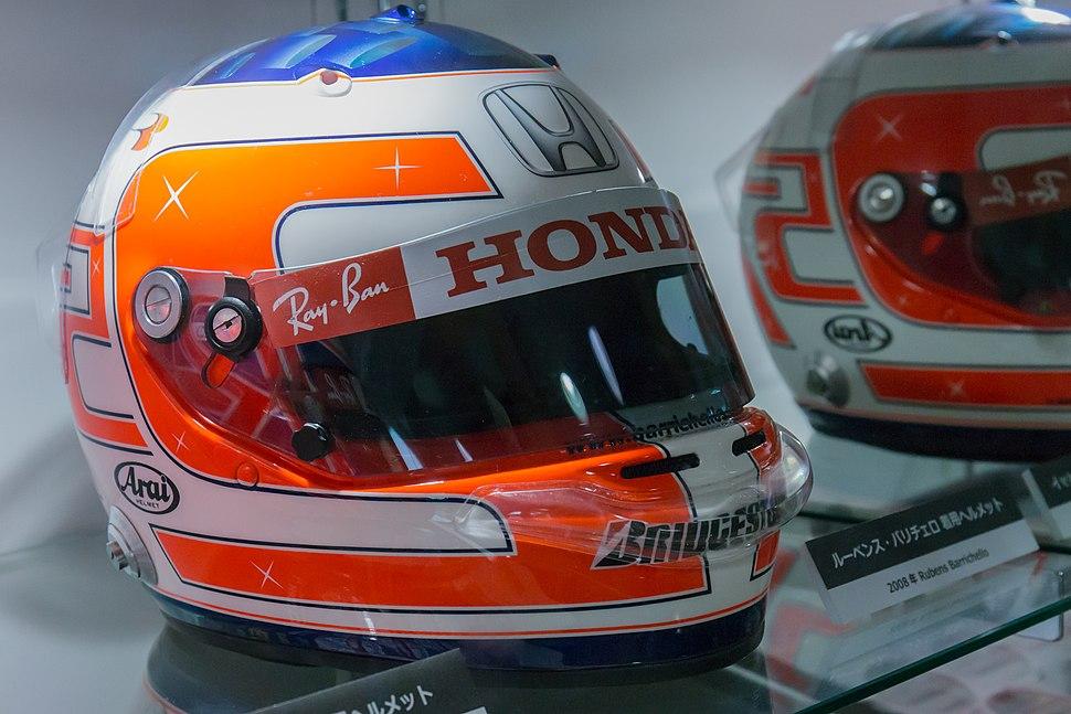 Rubens Barrichello 2008 Turkish GP helmet 2014 Honda Collection Hall