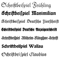 German Blackletter typefaces