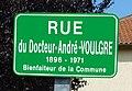 Rue du Docteur André Voulgre, plaque, Mussidan.jpg