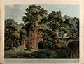 Ruins in the city of Gaur, West Bengal. Coloured aquatint by Wellcome V0050463.jpg