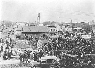 Rush City, Minnesota - Rush City, Market Day, 1922