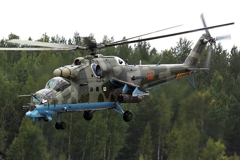 """سد النهضة الاثيوبي """" ملف شامل """" الجزء الثاني: الخيار العسكري ( موضوع فريق فرسان المجد ) 800px-Russian_Air_Force_Mil_Mi-24PN_Dvurekov-6"""