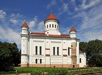 Orthodox Cathedral of the Theotokos, built in the 14th century by Grand Duke Algirdas for newcomers Ruthenians in the Ruthenian quarter of Vilnius (Latin: Civitas Ruthenica ) Russian Orthodox Church of The Holy Mother of God Vilnius (5990381200).jpg