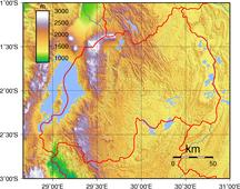 ルワンダ-地理-Rwanda Topography