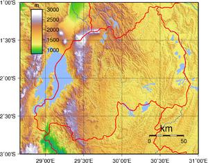 Geography of Rwanda - Topography of Rwanda