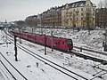 S-train line A in snow at Østerport Station 01.jpg