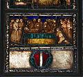 S.m. maddalena de' pazzi, int., vetrata con stimmate di san francesco e stemma pepi, 1500-1510 ca. 05.JPG
