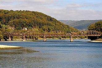 Koblenz, Switzerland - Image: SBB Aarebruecke Koblenz (AG) 06 09