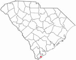 Location of Hilton Head Island inSouth Carolina