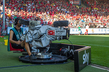 The Bundesliga is broadcast on TV in over 200 countries SC Freiburg vs FSVMainz 17 aout 2013 60.jpg