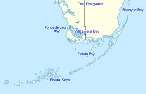 Map Of Florida Bays.Whitewater Bay Wikipedia