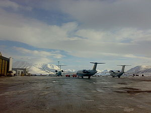 Svalbard Airport, Longyear - Aircraft parked at the airport