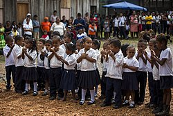 Opening of elementary school built by U.S. Marines in Puerto Lempira