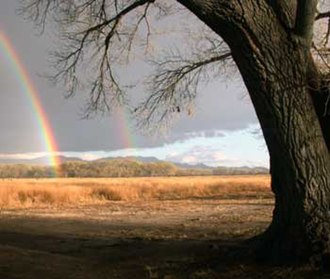 National Conservation Area - Double rainbow at San Pedro Riparian National Conservation Area, Arizona