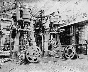 SS St. Louis (1894) - Quadruple expansion engines of St. Louis in the Cramp workshop where they were built