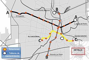 Subte De Córdoba Wikipedia La Enciclopedia Libre - Argentina subte map