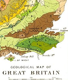Geological map of Southeast England