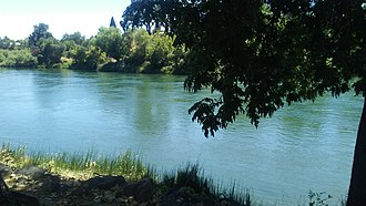 Sacramento River - The Sacramento River running through Red Bluff, California
