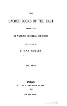Sacred Books of the East - Volume 47.djvu