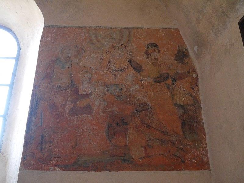 L'Adoration des Mages, peinture murale, 1608.