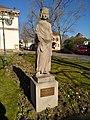 Saint-Louis (Haut-Rhin) - Statue Saint Louis devant l'église (fév 2019).jpg