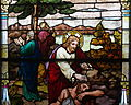 Saint Henry Catholic Church (St. Henry, Ohio) - stained glass detail, nave, Christ as the Good Samaritan.jpg