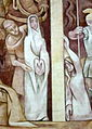 Saint Leonard Faith Community (Centerville, Ohio) - mural, The Crucifixion, detail of St.s John, Mary, & Mary Magdalene.jpg
