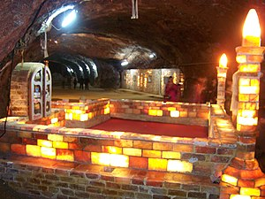Khewra Salt Mine - A small masjid made of salt bricks inside the Khewra salt mine complex