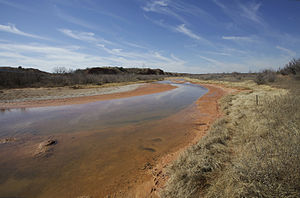 Photo of the Salt Fork Brazos River