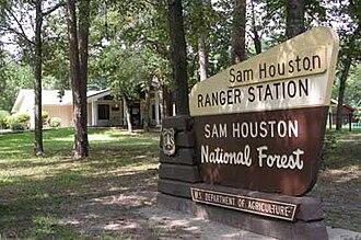 Sam Houston National Forest - Image: Sam Houston National Forest sign