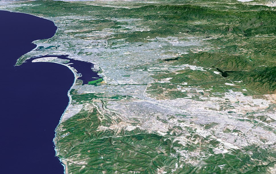 San Diego-Tijuana Metro 3D Map