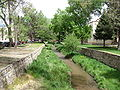 Santa Fe River Park Channel from the Don Gaspar Bridge, Santa Fe NM.jpg