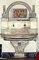 Santa Maria del Popolo Sakristei Becken mit dem Wappen der Vannozza Catanei.jpg