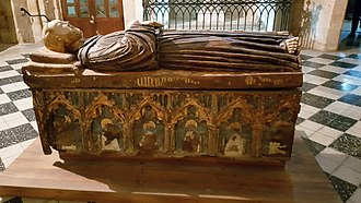 Tello Alfonso, Lord of Aguilar de Campoo - Sarcophagus of Tello of Castille in the convent of Saint Francis in Palencia