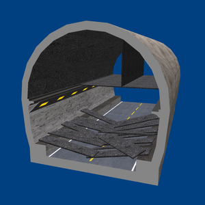 Sasago Tunnel(Chūō Expwy) collapsed 3D model 2.png