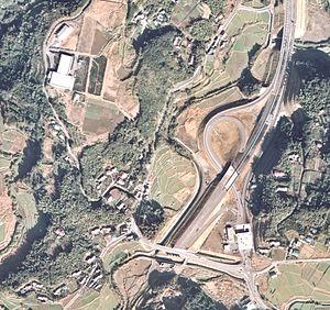 Satsuma Yoshida interchange air photo.jpg