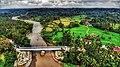 Sawah, sungai, jembatan, dan perkampungan.jpg