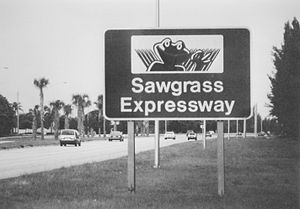 "Florida State Road 869 - ""Cecil B. Sawgrass"", the Sawgrass Expressway's now-hard-to-find mascot"