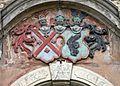 Schloss Hainewalde - Wappen der Familien von Kanitz und Kyaw am Südportal (01-2).JPG
